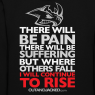 Design ~ There will be pain | CutAndJacked |Womens hoodie (back print)