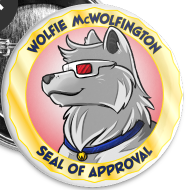 Design ~ Wolfie Seal of Approval Buttons 5-Pack