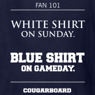 Design ~ Blue Shirt on Gameday Kids T-Shirt