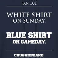 Design ~ Blue Shirt on Gameday Hoodie