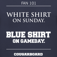 Design ~ Blue Shirt on Gameday Women's V-neck T-Shirt