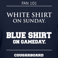 Design ~ Blue Shirt on Gameday Women's T-Shirt