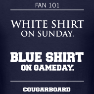 Design ~ Blue Shirt on Gameday T-shirt