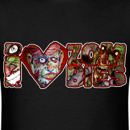 Design ~ i love zombies horizontal