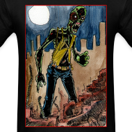 Design ~ mens - zombie in ruins