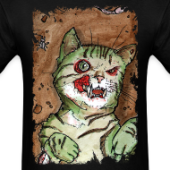 Design ~ mens green zombie cat