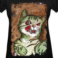 Design ~ womens green zombie cat