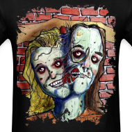 Design ~ mens two headed zombie