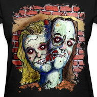Design ~ wmens two headed zombie