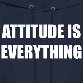 Attitude is everything gym motivation t shirts hoodies slim fit tees
