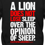 Design ~ A lion does not lose sleep | Mens Zipper hoodie