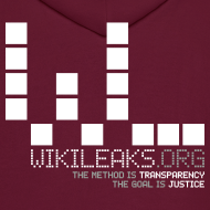 Design ~ WikiLeaks Supporter Fleece Zip Hoodie