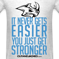 Design ~ It never gets easier | Mens tee