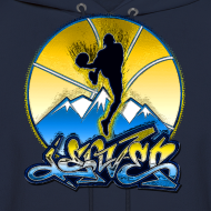 Design ~ Denver - Blue and Yellow - Hoodie