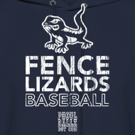 Design ~ Pickett Fence Lizards Hoody white logo