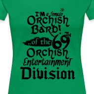 Design ~ Ladies Tee: Orc Bard