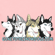 Design ~ Gone to the Snow Dogs - Women's Long Sleve