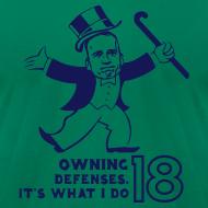 Design ~ Owning Defenses - Mens - T-shirt - Navy - 3XL / 4XL