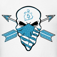 Design ~ American Skull Powder Blue