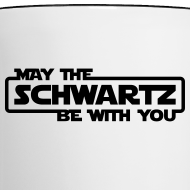 Design ~ 'May the Schwartz Be With You' Border Design Coffee Mug