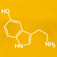 Design ~ Serotonin Molecule T-Shirt Yellow
