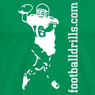 Design ~ T-Shirt QB-on-the-run white-on-green