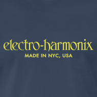 Design ~ Electro-Harmonix: Yellow on Navy Blue