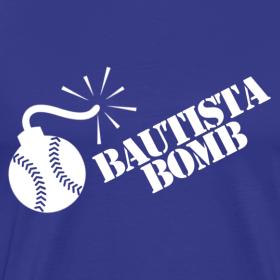 Design ~ Bautista Bomb T-Shirt - White Logo (Men&#39