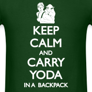 Design ~ Keep Calm and Carry Yoda Mens