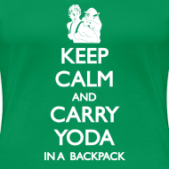 Design ~ Keep Calm and Carry Yoda Ladies
