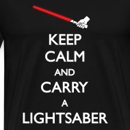 Design ~ Keep Calm Red Lightsaber 1