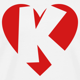 K Letter With Heart Images love K T-Shirt - Heart K - Heart with letter K | Love T-Shirts