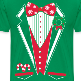 Merry christmas tuxedo t shirt green dirtyragz t shirts Merry christmas t shirt design