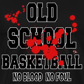 Basketball old school t shirt grandpa 39 s designer t shirts for Old school basketball t shirts