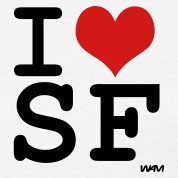 White i love sf ( san francisco ) by wam Women's T-Shirts