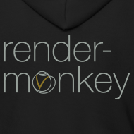 Design ~ Rendermonkey - Black Zipper Hoodie