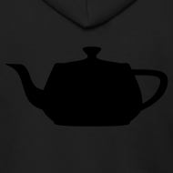 Design ~ Utah Teapot - Stealth - Black Zipper Hoodie