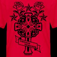 Design ~ New Cross and Roses Vintage Designer Tee