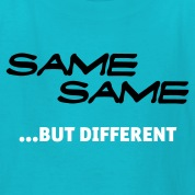 Turquoise Same Same But Different 1 (2c, NEU) Kids' Shirts