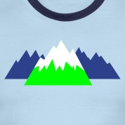 Sky/navy pointy mountains hills snow winter canada T-Shirts