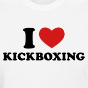 White I Love Kickboxing Women's T-Shirts