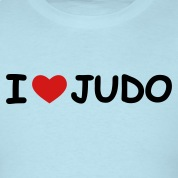 Sky blue I Love Judo T-Shirts