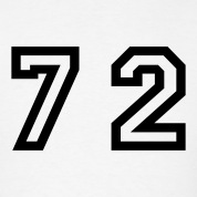 White Number - 72 - Seventy Two T-Shirts