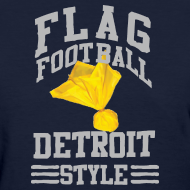 Design ~ Detroit Flag Football Women's Standard Weight T-Shirt