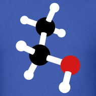 Design ~ YellowIbis.com 'Chemical Structures' Men's / Unisex Standard T: Ethanol (Color Choice)
