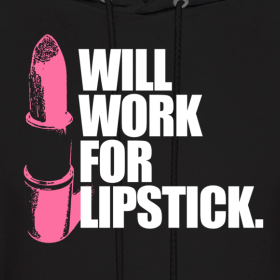 Mens Makeup on Lipstick  Men S Hoodie   Give Good Face   The Makeup Mafia Store