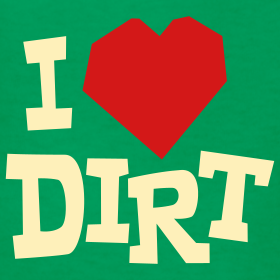 "Design ~ ""I Heart Dirt"" Kids Green"