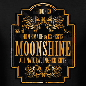 Moonshine label | Identitee