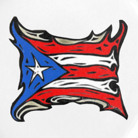 Puerto Rico Reggaeton Flag | gabrielangeldesign