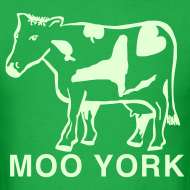 Design ~ Glow in the dark Moo York Shirt by New York Old School